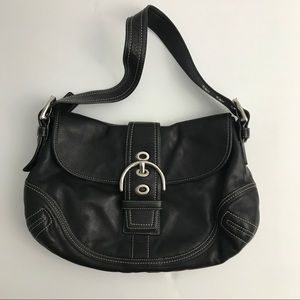 Coach | Black Leather Medium Hobo Buckle Bag